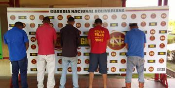 GAES 81 detiene a integrantes de banda dedicada a extorsionar a contratistas petroleras en Guanipa