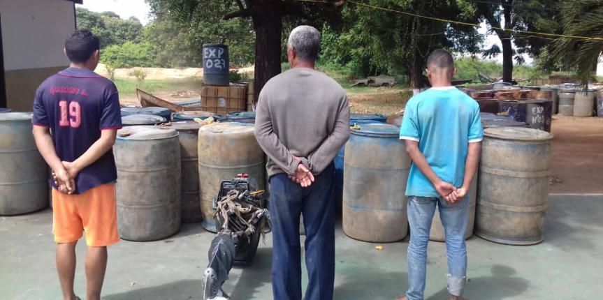 Comando de Vigilancia Costera de la GNB desarticula banda de contrabandistas de combustible en el estado Bolívar