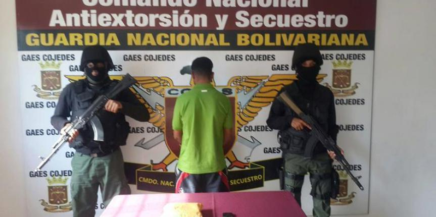 GAES Cojedes captura a ciudadano implicado en el delito de extorsión