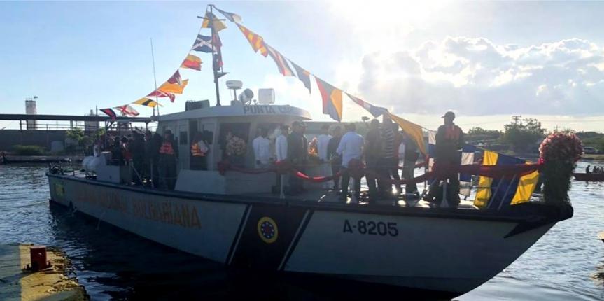 Comando de Vigilancia Costera efectua procesión lacustre de la Virgen de Chiquinquirá