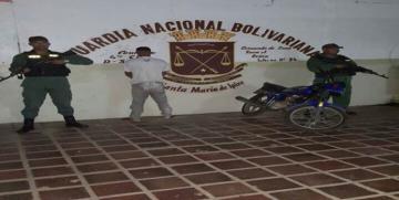 GNB arrestó a ciudadano perpetrando robo de moto en el estado Guárico