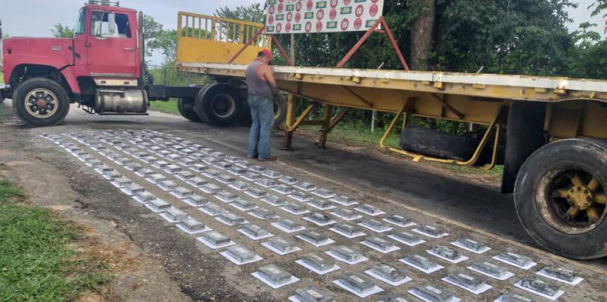 GNB Zulia reporta contundente incautación de 151 kilos de cocaína