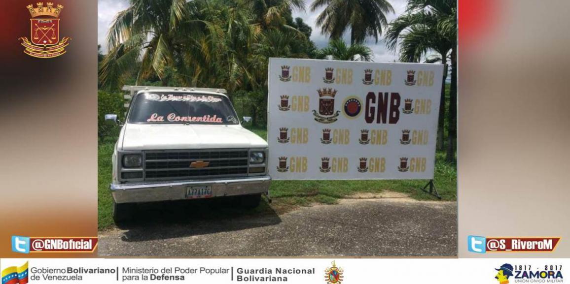 GNB retuvo vehículo con serial de carrocería suplantada