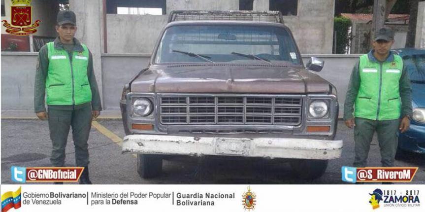 GNB retuvo vehículo por alteración de seriales en Barinas