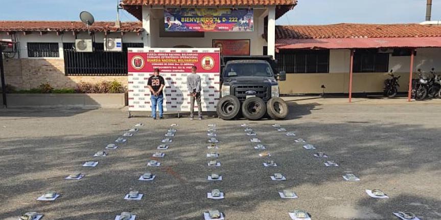 GNB incautó casi 53 kilos de marihuana en Zea estado Mérida