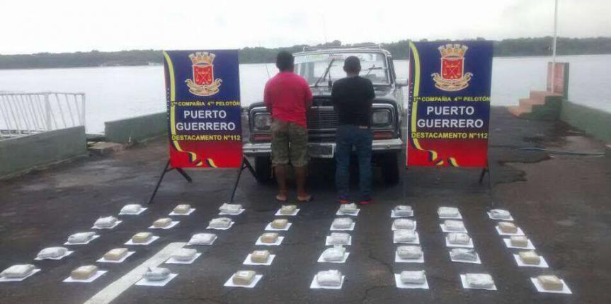 GNB Zulia ha incautado 61 envoltorios de droga en las últimas 48 horas