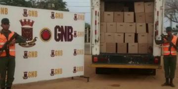 GNB detuvo a dos ciudadanos con un cargamento de productos lácteos robado