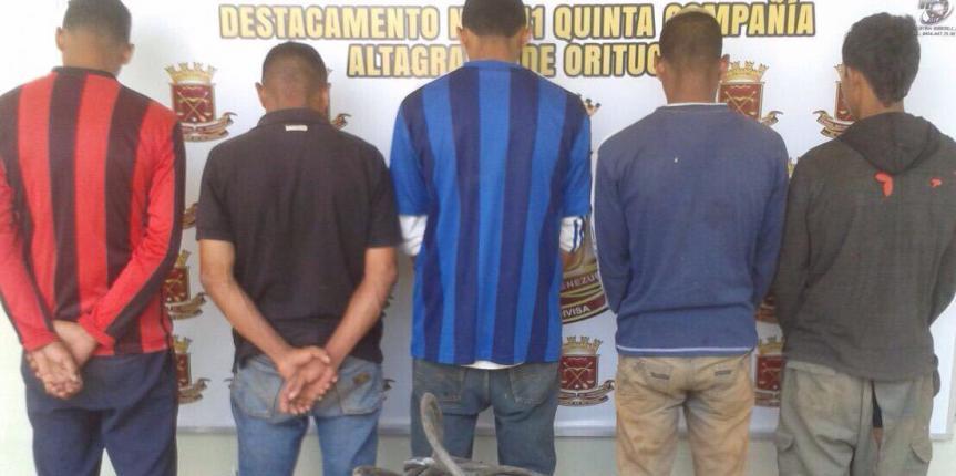 GNB Guárico desarticuló banda dedicada al hurto
