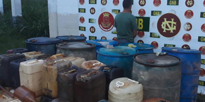 GNB retuvo más de 10 mil litros de combustibles de contrabando en el estado Bolívar