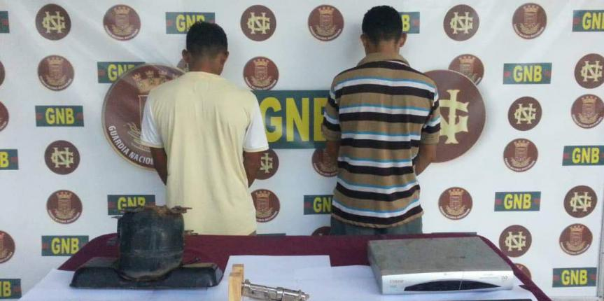 GNB desmantela banda dedicada al robo de viviendas en Anaco