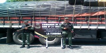 GNB  retuvo 14.000 kg abono gallinaza en el estado Tachira