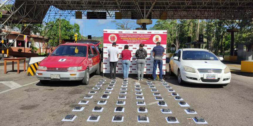 100 panelas de droga fueron incautadas durante el fin de semana en Táchira por la GNB