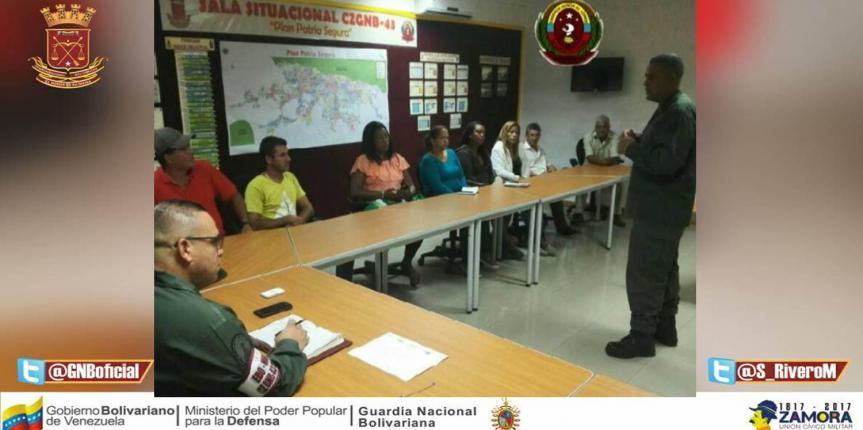 GNB realiza reunión con Productores en la región Capital