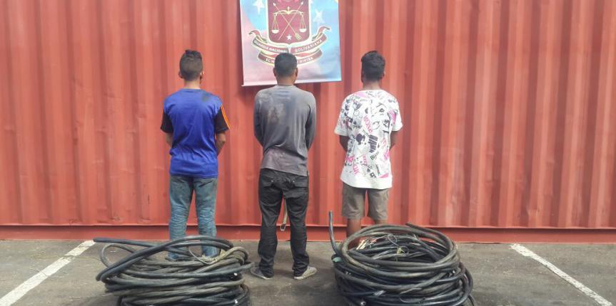 GNB capturó a tres ciudadanos por hurtar material estratégico en una macolla