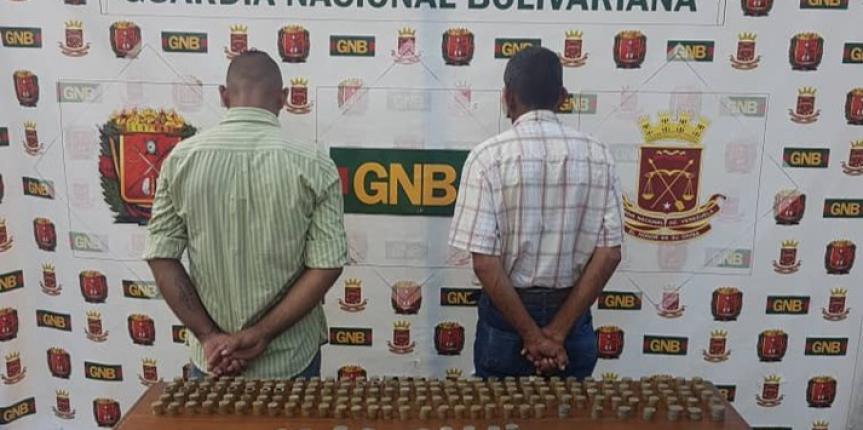 GNB detiene dos sujetos con 20 kilos de Bronce en el estado Mérida
