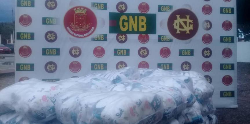GNB incautó 1.850 kilogramos de alimentos sin documentación legal en el estado Bolívar