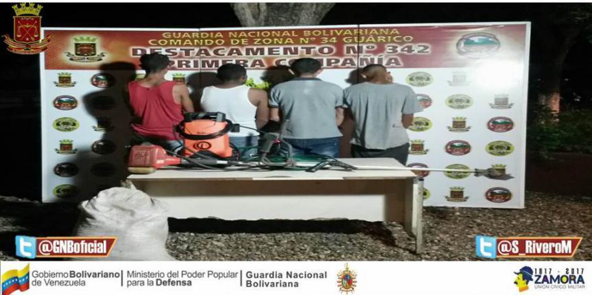 GNB Guárico desarticuló dos bandas dedicadas al robo y hurto de ganado