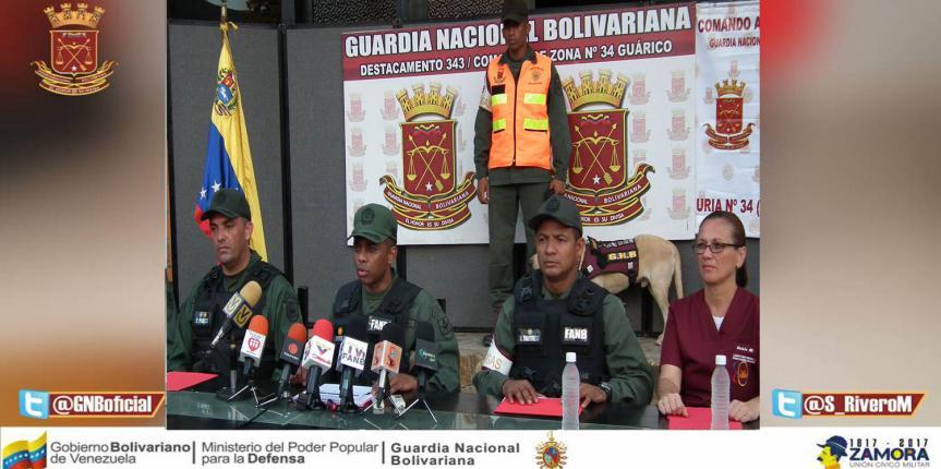 GNB incautó 20 panelas de marihuana en Guárico
