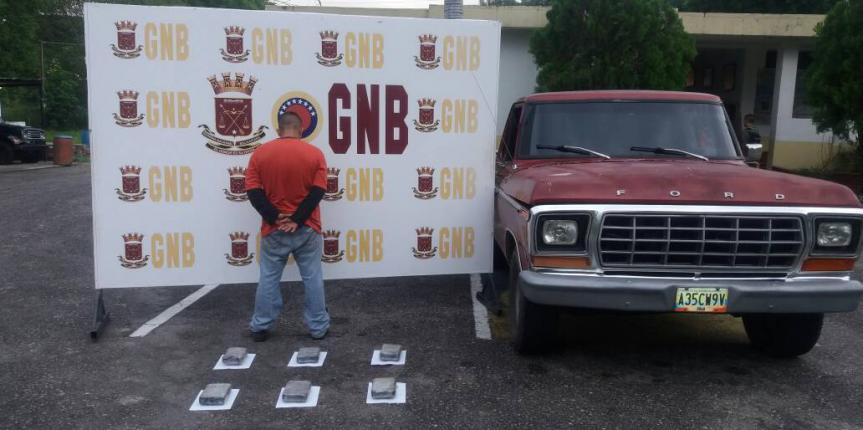 GNB incautó 7 kilos de Cocaína en el Quebraron