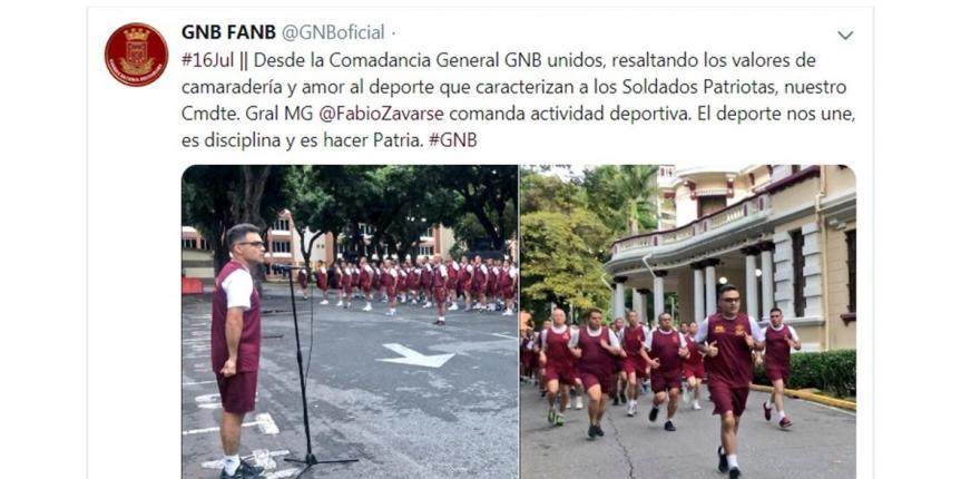 Comandante General de la GNB realiza actividades deportivas con el personal Militar de la Cogeguarnac