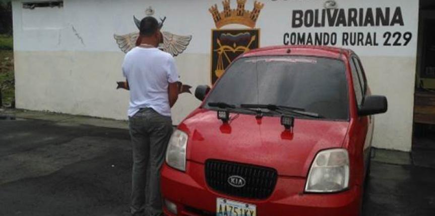 Comandos Rurales recuperan vehículo solicitado por el CICPC