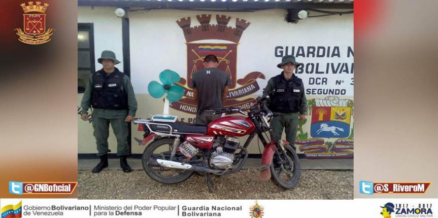 GNB captura a ciudadano por el delito de hurto en Cojedes