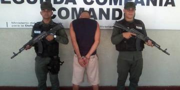 GNB captura presunto homicida de policía en Cumanacoa en el estado Sucre