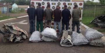 GNB aprehendió a seis ciudadanos por hurto de material estratégico en el estado Bolívar