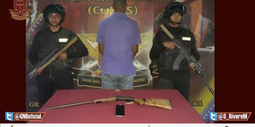 """GNB Conas capturó integrante de Banda delictiva """"Casañas"""""""