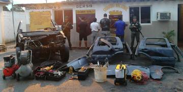 """GNB desmantela banda pica carros """"Los Lisos"""" en el estado Monagas"""