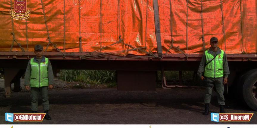 GNB Barinas Captura a  Sujeto con 1.500 Bultos de Harina de Maíz Precocida
