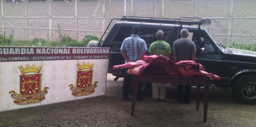 GNB capturó a tres ciudadanos por el delito de abigeato en el estado Guárico
