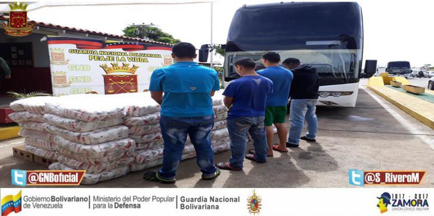 GNB decomisó casi 8 toneladas de azúcar y 450 kilogramos de arroz