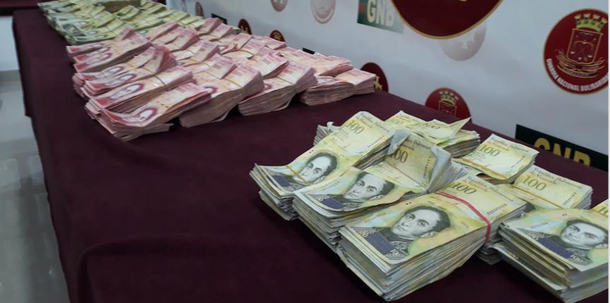 GNB detuvo a ciudadana con más de 1.2 millardos de bolívares en efectivo en Anzoátegui