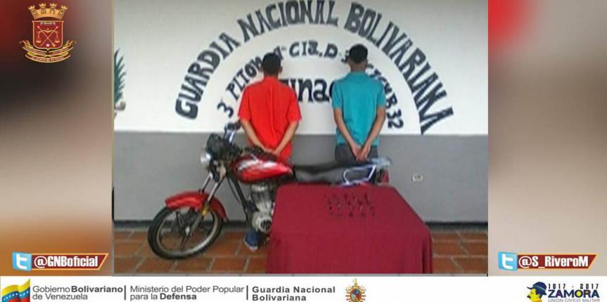 GNB capturó a dos ciudadanos con sustancia estupefacientes en Cojedes