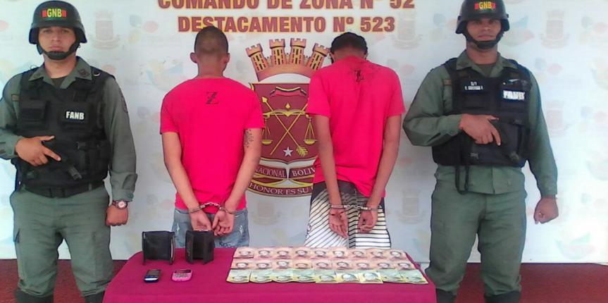 GNB captura a presuntos homicidas armados en Pariagüan estado Anzoátegui