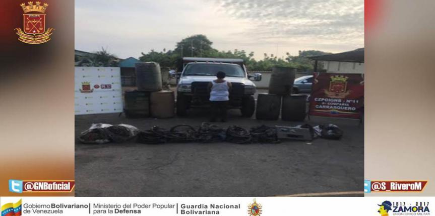 GNB Zulia incautó más de 1.5 toneladas de material estratégico