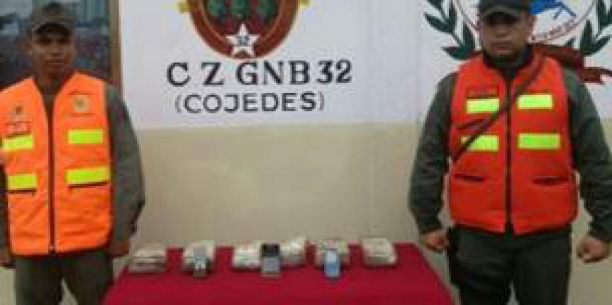 GNB incautó 6 panelas de presunta cocaína en el estado Cojedes