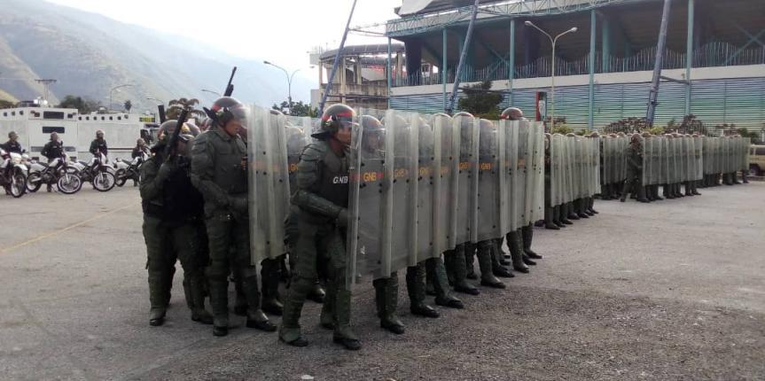 GNB realizó actividad de control de orden público en Mérida