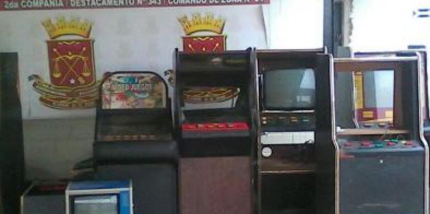 GNB decomisa 05 máquinas traganíqueles en el estado Guárico