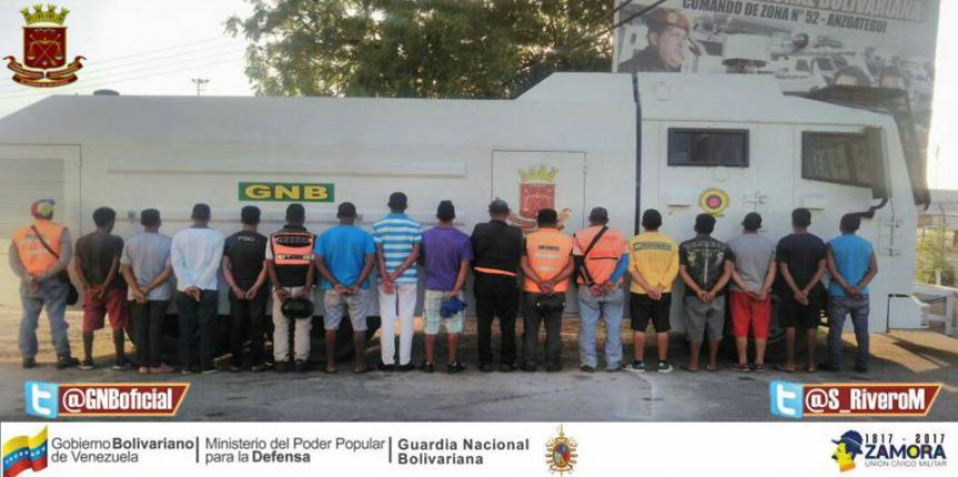 Más de 400 ciudadanos han sido detenidos por robo frustrado en zona norte de Anzoátegui