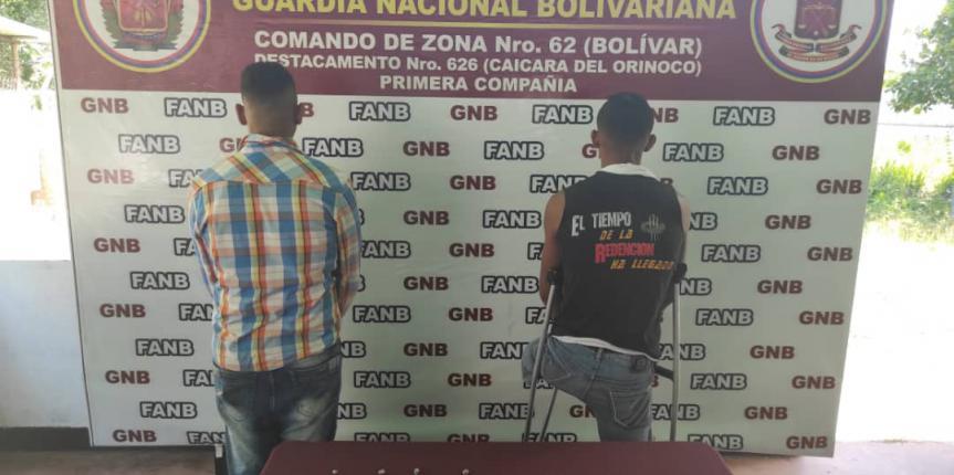 Por microtráfico de drogas GNB arrestó a tres ciudadanos en el estado Bolívar