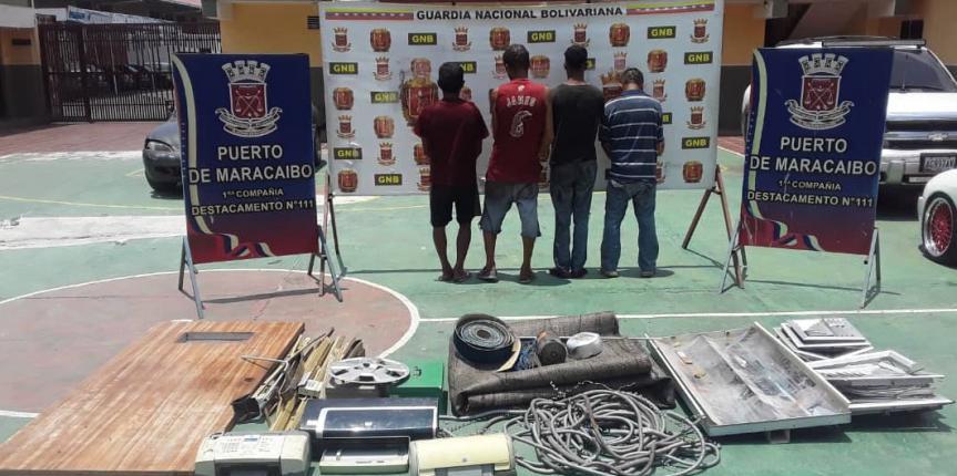 Desmantelada por la GNB Zulia banda delictiva dedicada al robo en edificios de 5 de Julio