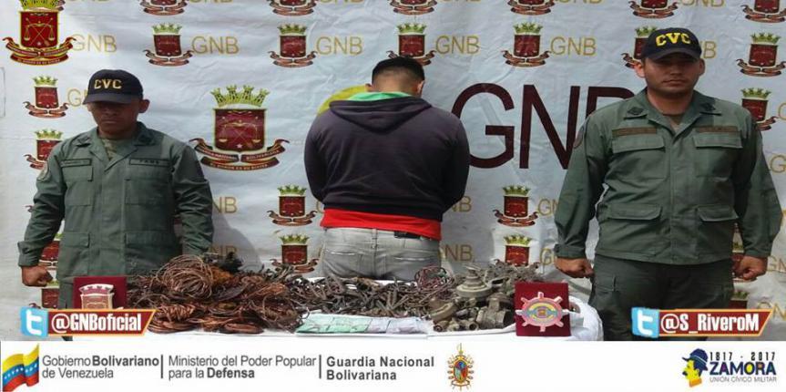 Vigilancia Costera GNB detuvo a ciudadano con material estratégico y dinero en efectivo
