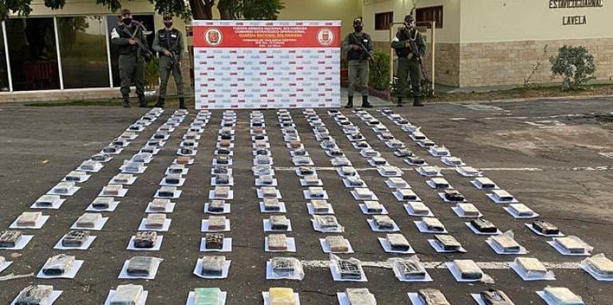 GNB incautó 170 panelas de Cocaína en el estado Falcón