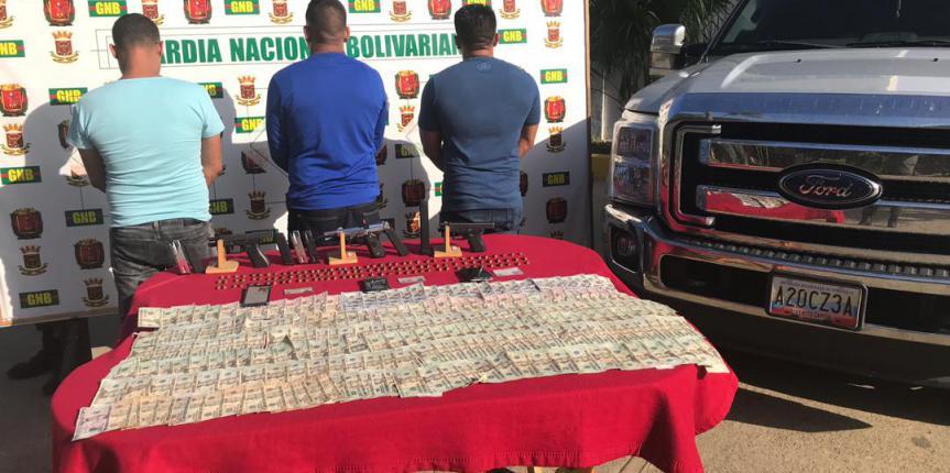 GNB Falcón capturó a tres integrantes de un Grupo Estructurado de Delincuencia Organizada