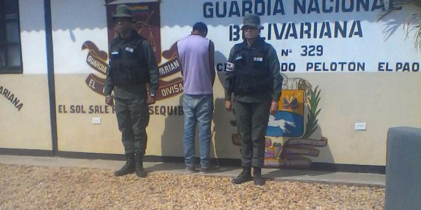 GNB Cojedes detuvo a ciudadano por el delito de robo de moto y lesiones personales