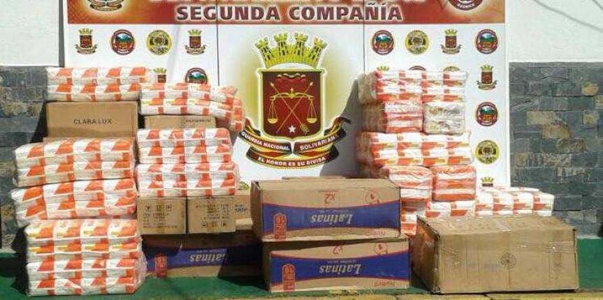 D342 confiscó contrabando de alimentos en Guárico