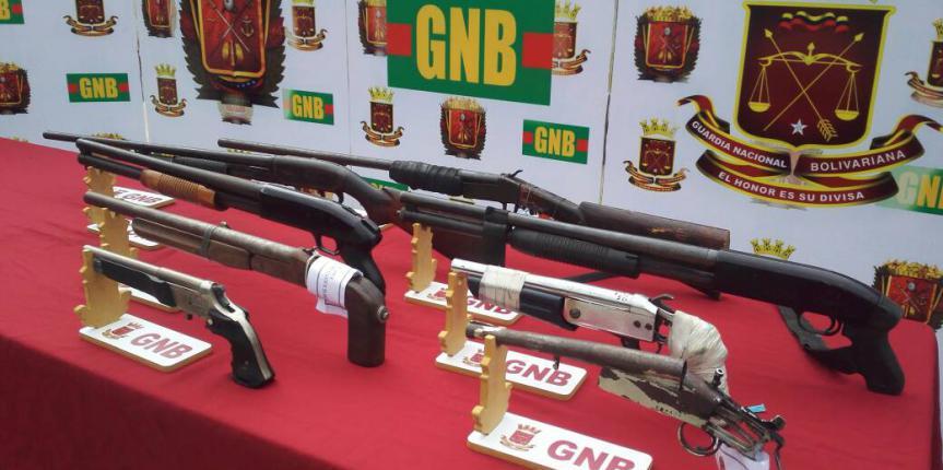GNB Capital incautó 50 armas de fuego y detuvo 456 ciudadanos