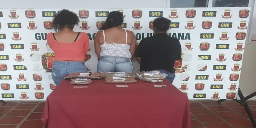GNB Zulia detiene 5 mujeres con droga en el eje carretero Falcón-Zulia